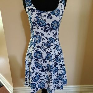 Divided sundress dress floral sleeveless women's